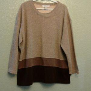 Three color block sweater
